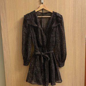 BRAND NEW | Dynamite Velvet Dotted Textured Dress